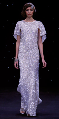 FashionDesigners - Bridal Gown Collections - Spring 2009 Bridal Photos at InStyle.com :  chic jenny packham color silver