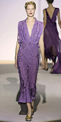 Alberta Ferretti - Runway Photos - Spring 2009 Runway at InStyle.com :  necklace style instyle color