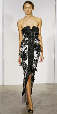 Marchesa - Runway Photos - Spring 2009 Runway at InStyle.com :  chic instyle color silver