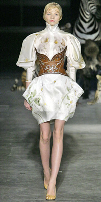 Alexander McQueen - Runway Photos - Spring 2009 Runway at InStyle.com :  chic instyle color silver
