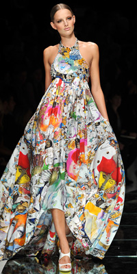 Versace - Runway Photos - Spring 2009 Runway at InStyle.com :  photos fall unusual gown