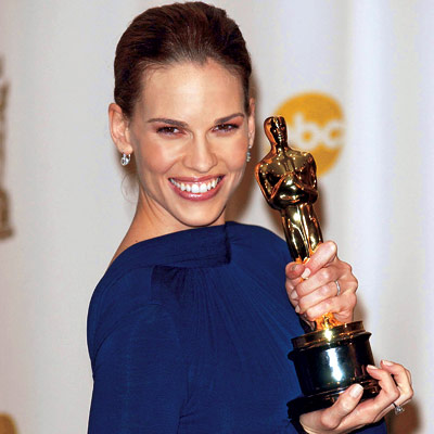 Hilary Swank, Oscars 2009. Gary Lee/Zuma. Print; Twitter