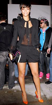 Rihanna, cocktail shorts, Matthew Williamson, spring trends, Kooba, celebrity style, celebrity trends