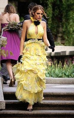 Serena van der Woodsen in Strapless Yigal Azrouel Dress on Gossip