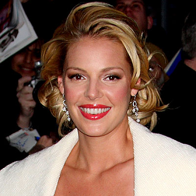 Katherine Heigl - '50s glamour hair. Henry Lamb/BEImages