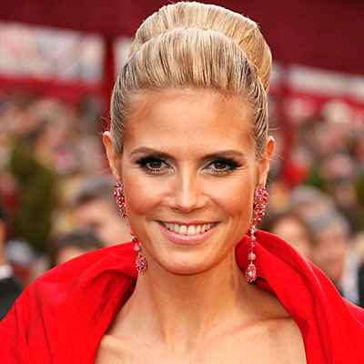 heidi klum hair color. Heidi Klum