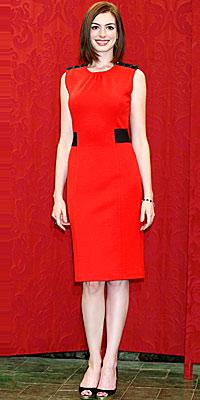 Anne Hathaway wearing Diane von Furstenberg