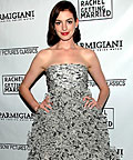 Anne Hathaway, Oscar de la Renta, Strapless, Holiday Dresses