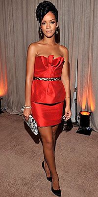 Rihanna, Monique Lhuillier, Day-to-Night, Holiday Dresses