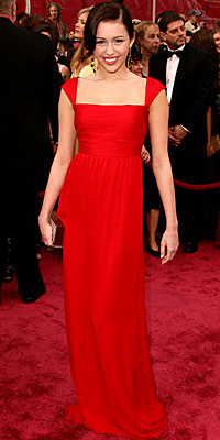 Miley Cyrus - Red Dresses - Oscars 2008 Fashion Trends - Oscars 2008 - Celebrities - In Style :  oscars red carpet red dress gown