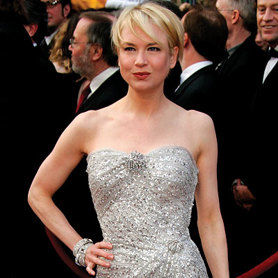 Renee Zellweger - Simply Strapless - Oscars 2008 Fashion Trends - Oscars 2008 - Celebrities - In Style :  oscars red carpet silver vintage