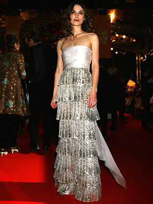 Keira Knightley in Valentino Couture, 2008 BAFTAS, London