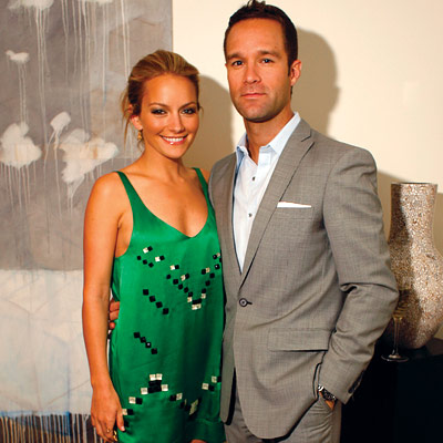 Becki Newton with cool, Husband Chris Diamantopoulos
