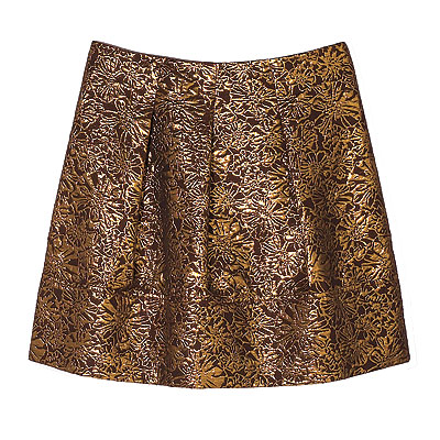 Fall Trends, Metallic, DKNY silk brocade skirt