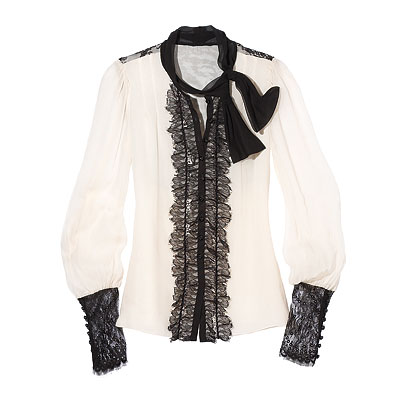 Fall Trends, Feminine, Nanette Lepore Silk blouse