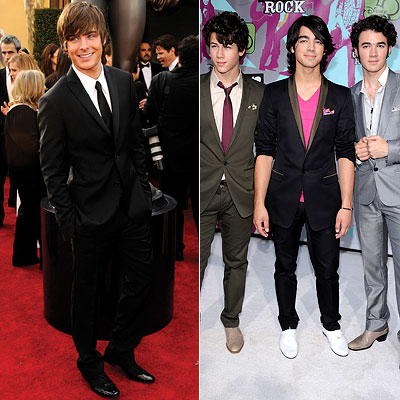 Zac Efron, Jonas Brothers, Teen Choice Awards, Male Hottie
