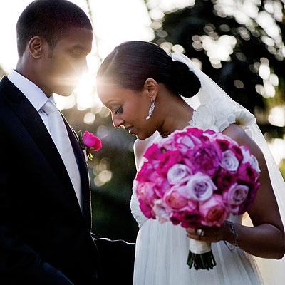 Favorite African American Celebrity Bride wedding black celebrity