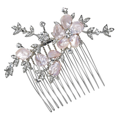 Classic Comb - Stylish Accessories - In Style Weddings :  swarovski hairpiece wedding hair comb