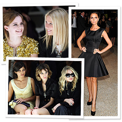 Burberry Prorsum - London Fashion Week - Stars at the Shows