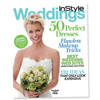 Jaime Pressly - instyle weddings