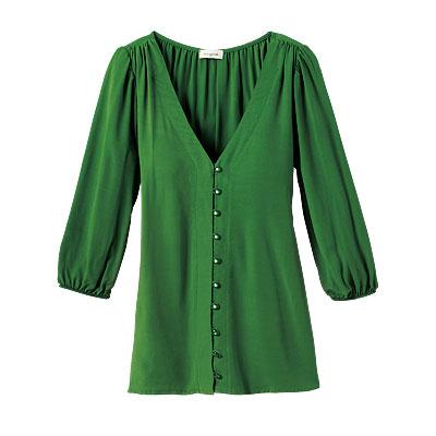Блузка зеленая