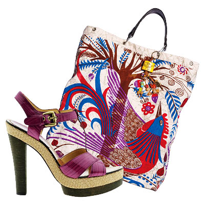 16 Great Bag-and-Shoe Combos - Summer Accessories 2009 - Fashion - In Style :  chic bag heels shoes