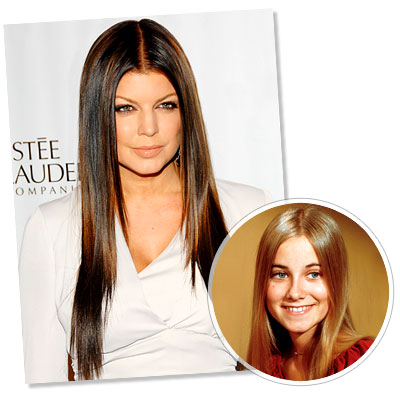 Long & Straight hairstyle - Fergie - Maureen McCormick - Straight Hair - Long Hair - Classic Hairstyles