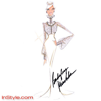 Vintage Fashion Sketches on Badgley Mischka   Fashion Designers Sketch Bella S Wedding Dress   The