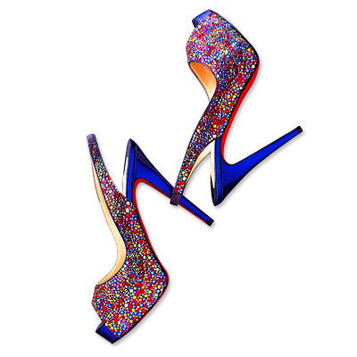 Christian Louboutin Jeweled Platforms