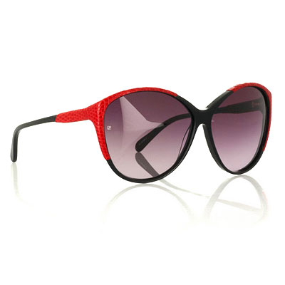 Linda Farrow Luxe Lizard-Trimmed Sunglasses