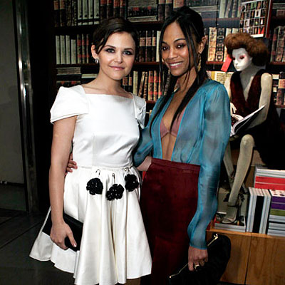 Best of 2009: Top 10 Celebrity Party Playlists - Ginnfer Goodwin - Zoe Saldana - Prada's Book Launch