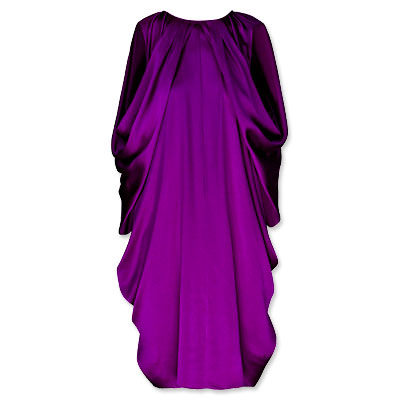 Yves Saint Laurent Draped Silk-Satin Dress - clothing - We're Obsessed - Fashion - Instyle.com