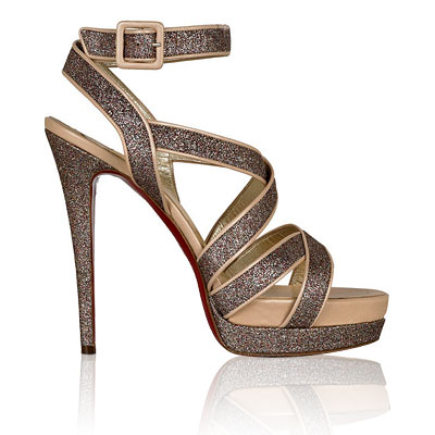Christian Louboutin Straratata Glitter Sandals - shoes - We're Obsessed - Fashion - Instyle.com
