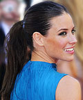 Daily Beauty Tip, Evangeline Lilly, Textured Ponytail