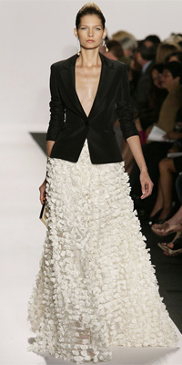 Badgley Mischka - Runway Photos - Spring 2010 Runway at InStyle.com :  blazer white clothing womens