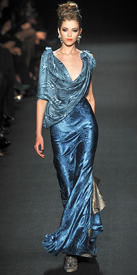 Zac Posen - Runway Photos - Fall 2009 Runway at InStyle.com :  designer clothes wearing fall shoes