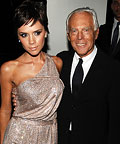 Victoria Beckham in Armani, Giorgio Armani, Armani flagship store opening, New York City, Fall 2009 Fashion Week