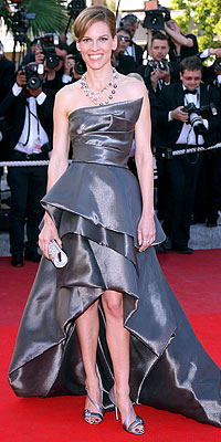 Hilary Swank - The Cannes Film Festival - Film Festival Central - Celebrity - In Style :  celebrities chic stars fashion