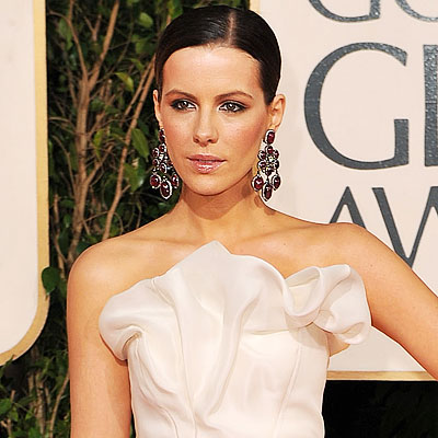 kate beckinsale hair 2009. 2009 Golden Globes, Hair