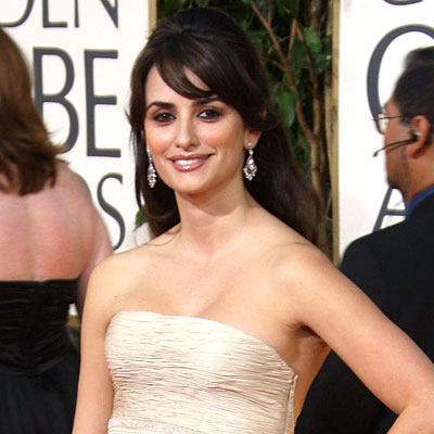 2009 Golden Globes, Hair Trends, Side-swept bangs, Penelope Cruz