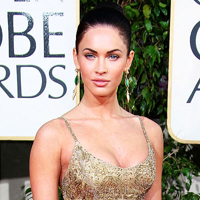 Megan Fox Red Hair. 2009 Golden Globes, Hair