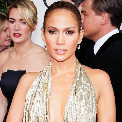 jennifer lopez hair 2009. 2009 Golden Globes, Hair