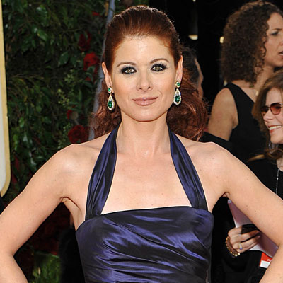 Debra Messing's eyeliner application is fairly simple in that it's basically