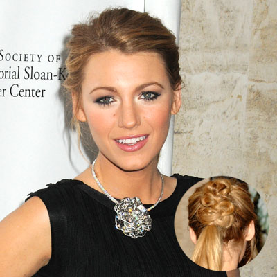 Blake Lively Hair Style on Blake Lively Short Hair  Prom Updo Hairstyles For Short Hair  Blake