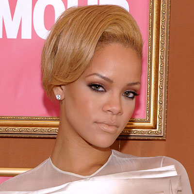 Rihanna-Black Hair-Blond HairRihanna Hair Color Blonde