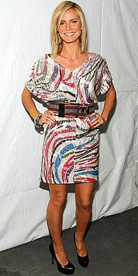 Heidi Klum wearing Diane von Furstenberg