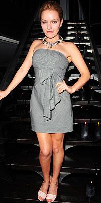 Becki Newton wearing DKNY