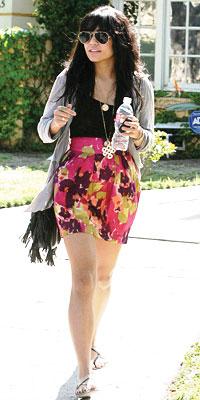 Vanessa Hudgens wearing Diane von Furstenberg