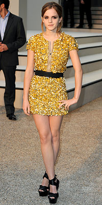 Emma Watson in Burberry Prorsum
