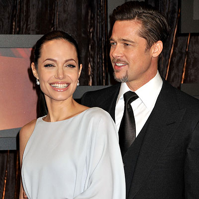 angelina jolie and brad pitt photo. Angelina Jolie in Max Azria